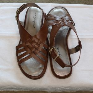 Easy Spirit-Brown Leather Sandals